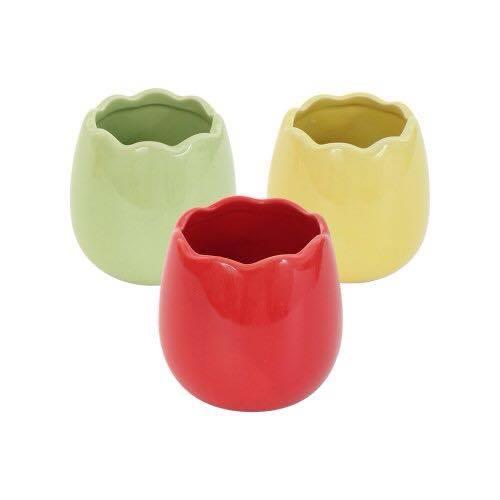 HOMA 彩色廚房 無鉛無毒 雞蛋型 彩色烤盅 烤杯 烤布丁 造型杯 來自法國時尚色系 三色一組