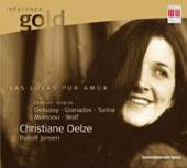 EDEL/Berlin 克莉絲汀.奧茲(Christiane Oelze)/黃金典藏系列15 - 愛之情狂~奧茲演唱德、法、西語藝術歌曲選[Reference Gold 15 - Las Locas Por Amor ~ Songs by Debussy, Granados, Turina, Mompou, Wolf]【1CD】