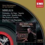 EMI GROC世紀原音系列160-卡拉揚(Herbert von Karajan)指揮柏林愛樂/卡拉揚指揮西貝流士管絃樂名曲(Sibelius:Finlandia,En Saga,Tapiola,Valse triste)【1CD】