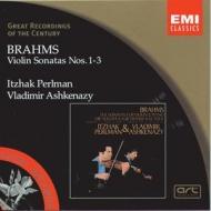 EMI GROC世紀原音系列4-帕爾曼(Itzhak Perlman)、阿胥肯納吉(Ashkenazy)/布拉姆斯:第一至三號小提琴奏鳴曲(Brahms:Violin Sonatas)【1CD】