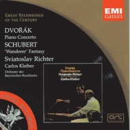 EMI GROC世紀原音系列6-李希特(Sviatoslav Richter)、小克萊巴、慕尼黑巴伐利亞國立管弦樂團/德佛札克:鋼琴協奏曲、舒伯特:『流浪者』幻想曲(Dvorak:Piano Concerto etc.)【1CD】