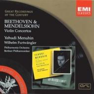 EMI GROC世紀原音系列26-曼紐因(Sir Yehudi Menuhin)、福特萬格勒、愛樂管弦樂團、柏林愛樂/貝多芬、孟德爾頌:小提琴協奏曲(Beethoven,Mendelssohn:Violin Concertos)【1CD】