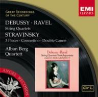 EMI GROC世紀原音系列84-阿班貝爾格弦樂四重奏(Alban Berg Quartett)/德布西、拉威爾、史特拉汶斯基:弦樂四重奏作品(Debussy & Ravel:String Quartets)【1CD】