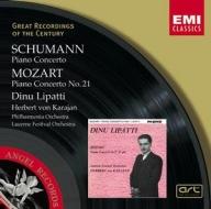 EMI GROC世紀原音系列92-卡拉揚、愛樂管弦樂團、李帕第(Dinu Lipatti)/舒曼:鋼琴協奏曲,莫札特:第21號鋼琴協奏曲(Schumann & Mozart:Piano Concertos)【1CD】