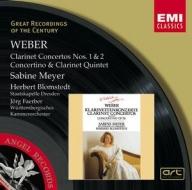 EMI GROC世紀原音系列117-莎賓梅耶(Sabine Meyer)、布隆許泰特、法伯、德勒斯登國立管弦樂團、伍騰堡室內樂團/韋伯:單簧管協奏曲與五重奏、小協奏曲(Weber:Clarinet Concertos)【1CD】
