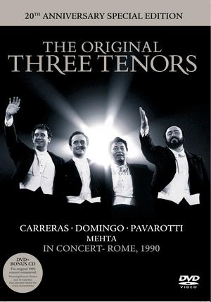 DECCA 帕華洛帝(Luciano Pavarotti) & 多明哥(Plácido Domingo) & 卡列拉斯(José Carreras)/三大男高音世紀聯演20週年超值典藏版[The Original Three Tenors - In Concert, Rome, 1990 (20th Anniversary Special Edition)]【1DVD+1CD】