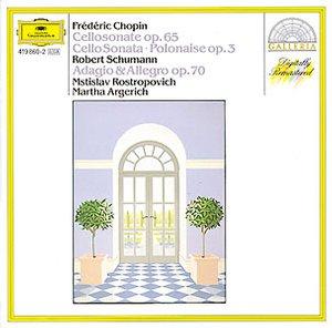 DG 畫廊系列37 阿格麗希(Martha Argerich)、羅斯卓波維契(Mstislav Rostropovich)/蕭邦:大提琴奏鳴曲etc.(Chopin:Cello Sonata op.65, Introduction and Polonaise,Op.3, Schumann:Adagio and Allegro in A flat,Op.70)【1CD】