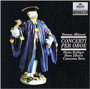 DG 畫廊系列47 霍利格(Heinz Holliger)/阿比諾尼:8首雙簧管協奏曲(Albinoni:8 Oboe Concertos)【1CD】