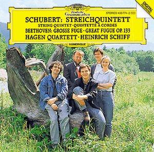 【小閔的古典音樂世界】DG 哈根四重奏團(Hagan Quartett) & 席夫(Heinrich Schiff)/舒伯特:弦樂五重奏/貝多芬:大複格【1CD】