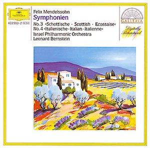 "DG 畫廊系列87 伯恩斯坦(Leonard Bernstein)/孟德爾頌:第3、4號交響曲(MENDELSSOHN:Symphonien No.3""Scottish"", No.4""Italian"")【1CD】"