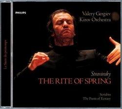 DECCA 葛濟夫(Valery Gergiev)/史特拉汶斯基:春之祭、史克里亞賓:狂喜之詩[Stravinsky: The Rite of Spring / Scriabin: The Poem of Ecstasy]【1CD】