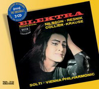 【小閔的古典音樂世界】DECCA 笛卡原音系列035 妮爾森(Birgit Nilsson) & 瑞絲妮克(Regina Resnik) & 蕭提(Georg Solti)/理察史特勞斯:歌劇《伊蕾克特拉》[Strauss: Elektra]【2CDs】