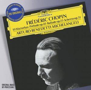DG 米開蘭傑里(Arturo Benedetti Michelangeli)/蕭邦:十首馬祖卡舞曲、第二十五號前奏曲、第一號敘事曲、第二號詼諧曲【1CD】