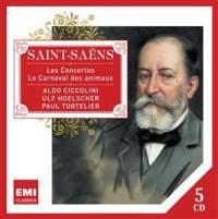 【小閔的古典音樂世界】EMI 契可里尼(Aldo Ciccolini)/聖桑:鋼琴、小提琴、大提琴協奏曲作品全集[Saint-Saëns: Concertos pour piano violon violoncelle]【5CDs】