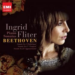 EMI 英格麗.芙莉特(Ingrid Fliter)/貝多芬:鋼琴奏鳴曲《悲愴》、《暴風雨》、《熱情》[Beethoven: Piano Sonatas No.8、No.17、No.23]【1CD】