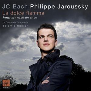 "Virgin 雅洛斯基(Philippe Jaroussky)、傑赫米洛赫(Jérémie Rhorer)/溫柔的火燄-約翰克利斯欽巴哈的閹人男高音詠嘆調(J.C. Bach ""La Dolce Fiamma"" - Forgotten castrato arias)【1CD】"