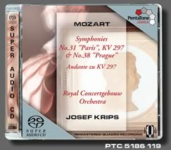 "PentaTone JOSEF KRIPS/MOZART:Symphony No.31 in D, KV297 "" Paris"" / Symphony No.38 in D, KV504 ""Prague""【1SACD】"