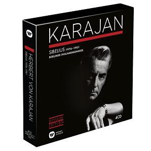 Warner 卡拉揚逝世25週年紀念〈八〉卡拉揚與柏林愛樂的西貝流士1976-1981[Karajan: Sibelius 1976-1981]【4CDs】