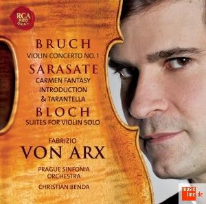 【小閔的古典音樂世界】SONY 馮.亞克斯(Fabrizio Von Arx)/布魯赫:小提琴協奏曲第1號、薩拉沙泰:卡門幻想曲、布洛克:小提琴獨奏組曲 第1號&第2號[Bruch:Violin Concerto No.1、Sarasate:Carmen Fantasy、Bloch:Suite for Violin Solo No.1&2]【1CD】