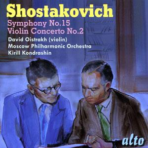 alto 歐伊斯特拉赫(David Oistrakh) & 孔德拉辛(Kyril Kondrashin)/蕭士塔高維契:第十五號交響曲、第二號小提琴協奏曲[Shostakovich: Symphony No.15 & Violin Concerto No.2]【1CD】