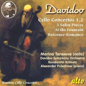 alto 瑪莉娜‧塔拉索瓦(Marina Tarasova)/大衛朵夫:兩首大提琴協奏曲與小品[Karl Davidov: Cello Concertos No.1, No.2 & Pieces]【1CD】