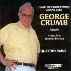 【小閔的古典音樂世界】BRIDGE 喬治.克朗(George Crumb)作品全集第四集[George Crumb:The Complete Crumb Edition, Volume 4 - Zeitgeist, Music for a Summer Evening]【1CD】