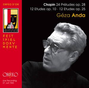 ORFEO 安達(Géza Anda)/蕭邦:24首前奏曲、24首練習曲[Chopin: 24 Préludes、24 Etudes]【2CDs】