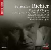 【小閔的古典音樂世界】Praga 李希特(Sviatoslav Richter)/蕭邦:練習曲、敘事曲、夜曲、幻想波蘭舞曲[Sviatoslav Richter plays Chopin]【1SACD】