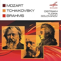 MELODIYA 歐伊斯特拉夫(David Oistrakh) & 尤蒂娜(Maria Yudina)/莫札特:小提琴協奏曲第5號、布拉姆斯:依韓德爾主題之變奏與賦格、柴可夫斯基:莫斯科清唱劇[Mozart: Violin Concerto No 5、Brahms: Variations on a theme by Handel、Tchaikovsky: Moscow Cantata]【1CD】