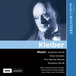medici MASTERS 克萊伯(Erich Kleiber)/莫札特:交響曲第39 & 36號、雙簧管協奏曲、四首德國舞曲【1CD】