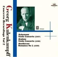 Opus KURA 庫倫肯普夫(Georg Kulenkampff):協奏曲錄音 2[Kulenkampff: Concerto Recordings Vol 2]【1CD】