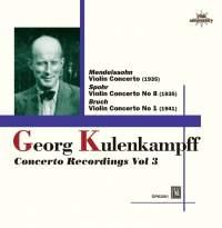 Opus KURA 庫倫肯普夫(Georg Kulenkampff):協奏曲錄音 3[Kulenkampff: Concerto Recordings Vol 3]【1CD】