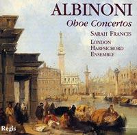 Regis 莎拉‧法蘭西斯(Sarah Francis)/阿比諾尼:雙簧管協奏曲[Albinoni: Oboe Concertos, Opp.7 & 9]【1CD】