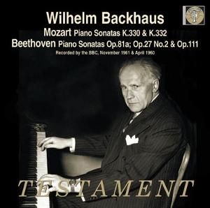 TESTAMENT 莫札特:鋼琴奏鳴曲K330、K332、貝多芬:鋼琴奏鳴曲「月光」、「告別」、第32號[Mozart: Piano Sonatas K330, K332、Beethoven: Piano Sonatas No.26, 14, 32]【1CD】
