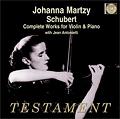 【小閔的古典音樂世界】Testament 瑪爾茨(Johanna Martzy)&安東涅蒂(Jean Antonietti)/舒伯特:小提琴與鋼琴作品全集(Schubert:Complete Works for Violin & Piano)【2CDs】