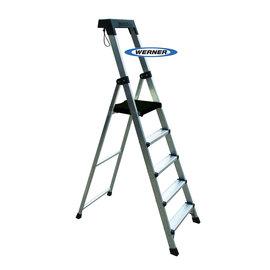 美國Werner穩耐安全梯-P275AS 寬踏板5階家用梯(最高觸及高度可達3.1米) 鋁梯 A字梯 梯子