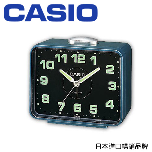 CASIO 卡西歐 TQ-218 夜間指針桌上型鬧鐘  / 個 (顏色隨機出貨)