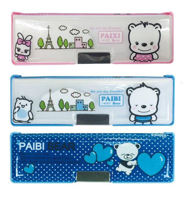 【永昌文具】荃翔 00025 派芘熊雙面鉛筆盒  / 個