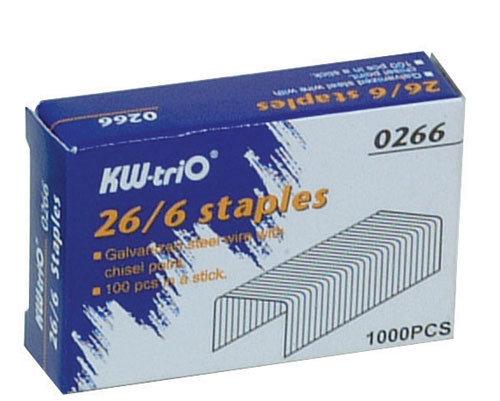 KW -trio 26/6 訂書針 #0266 -1000PCS / 盒