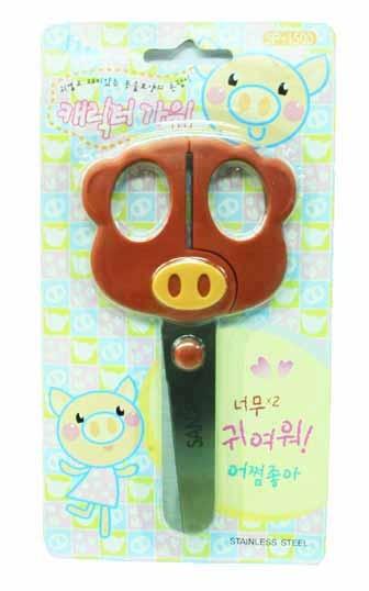 促銷~ 可愛豬 SP-1500 造型安全剪刀 / 支