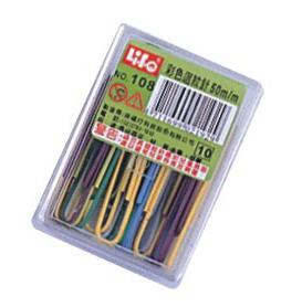 徠福 NO.108 彩色迴紋針-20支入 / 盒