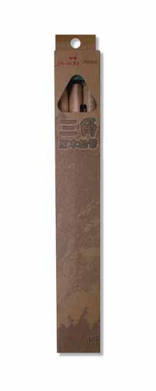 筆樂-PB5637-3粗三角原木鉛筆(盒裝)