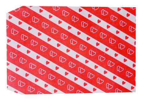 成昌8號36k雙心斜格貼心禮物袋(款式隨機出貨)- 100張/束