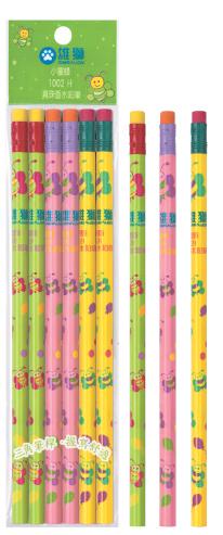 雄獅 1002H 小蜜蜂真珠香水三角鉛筆 6支入/包