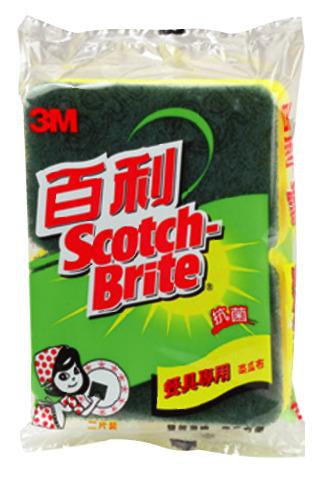 3M   74S-2M  百利餐具專用菜瓜布-海綿兩片 /包