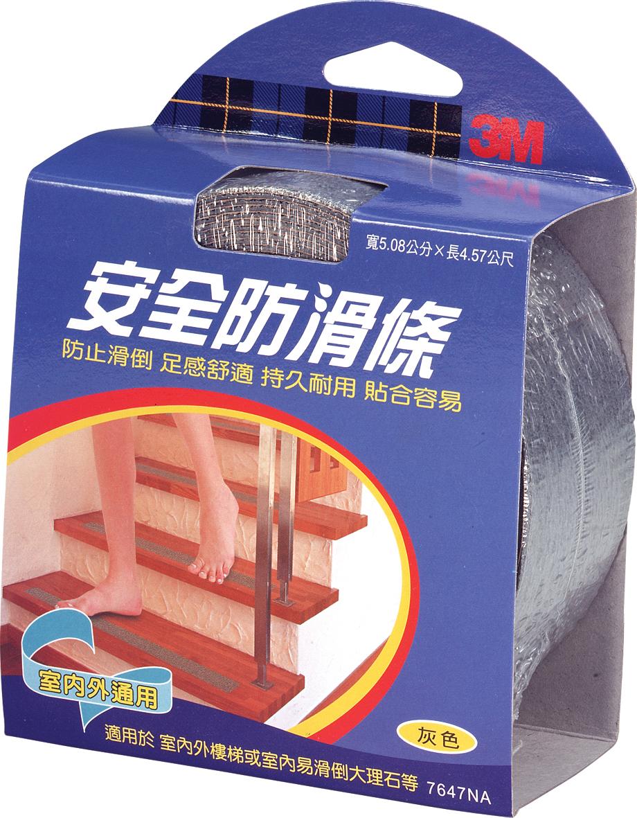 『3M』 7647 (2吋)(5.08 x 4.57cm) 舒適型防滑條室內外專用 /個