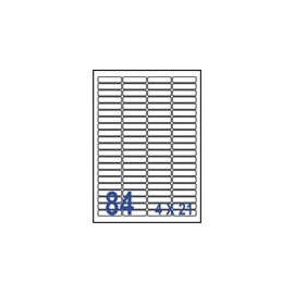 裕德 U4611電腦列印標籤84格46X11.11mm-20張入 / 包