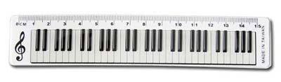 W.I.P    HA15S   15公分鍵盤尺 / 支