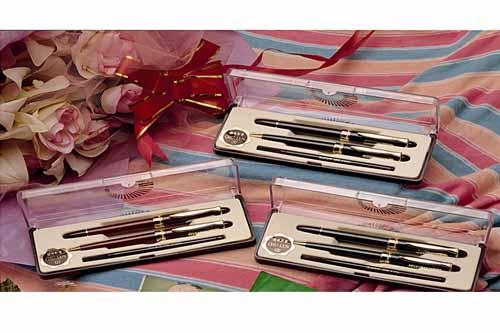 巨倫 A-0202 金蔥鋼珠筆對筆(綠) / 盒