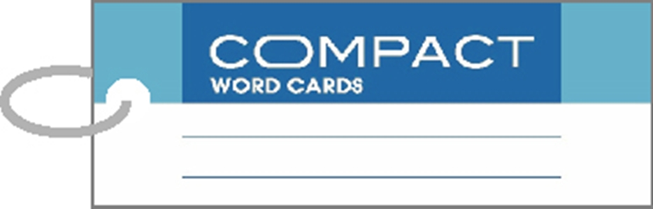 美加美 AO3106 COMPACT 單字記憶卡-長藍-3個入/ 包